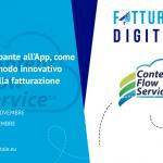 """CONTENT FLOW SERVICE PRESENTE AL PROSSIMO """"FATTURARE DIGITALE 2018""""."""