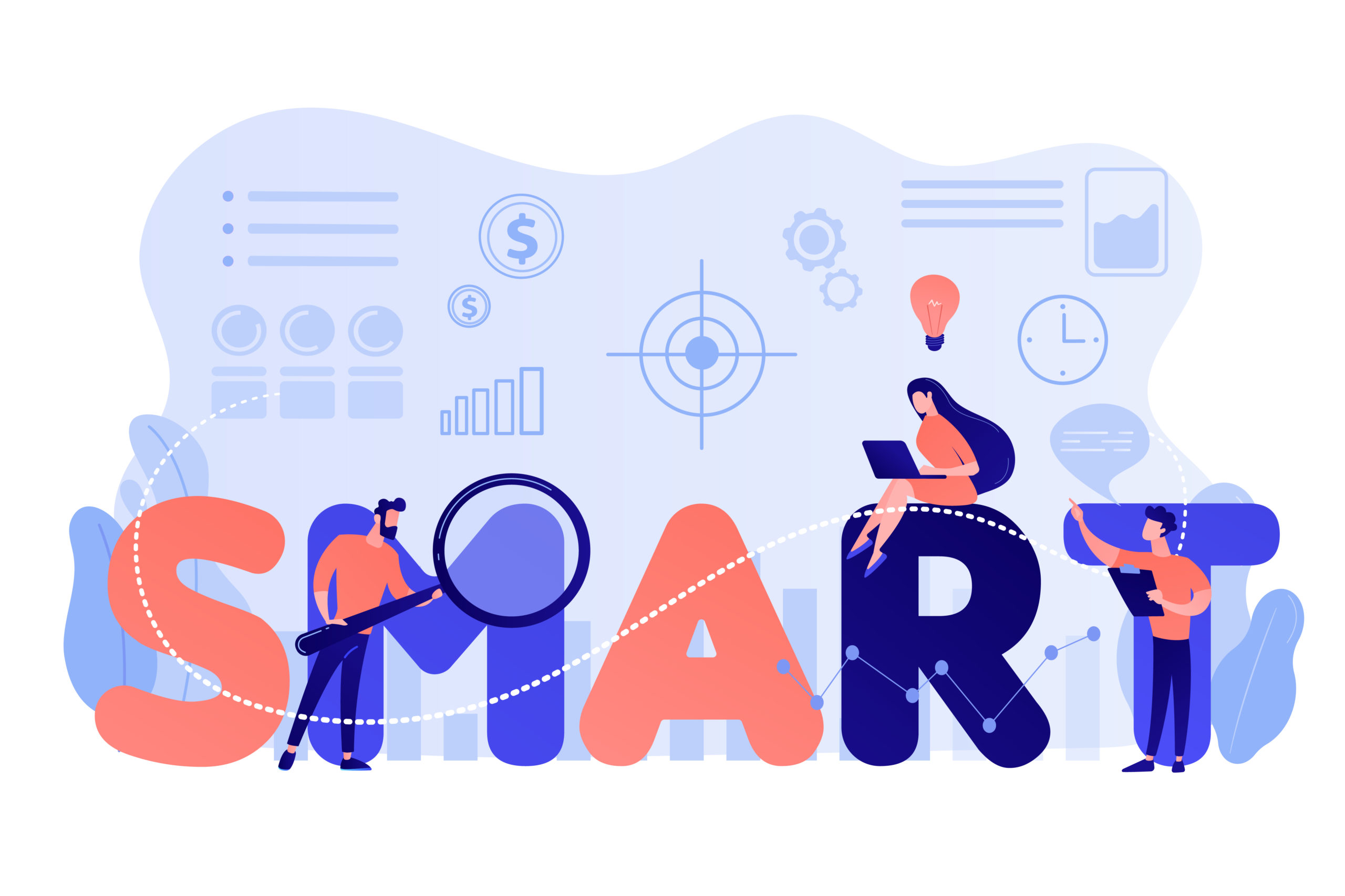 SMART Objectives concept vector illustration.