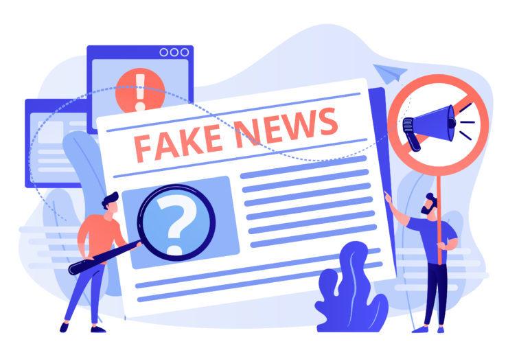 Fake news concept vector illustration